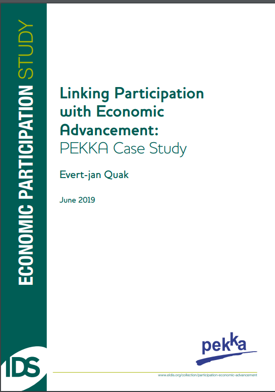 Grass-roots member-owned cooperatives for female heads of households in rural Indonesia (PEKKA) empower the women members through three economic activities: community-based microfinance through savings and borrowing; a closed trading and…